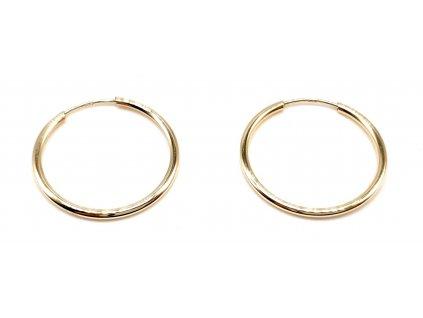 98358 jednoduche kruhove zlate nausnice 2 0cm