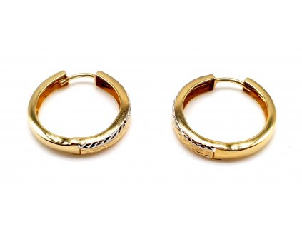 98367 kruhove zlate nausnice v provedeni bi color 1 5cm