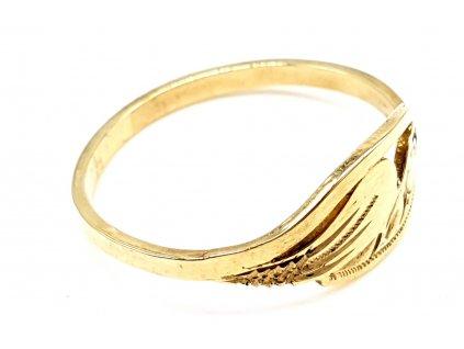 Minimalistický celozlatý žlutý prsten (Velikost prstene 52 mm)