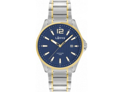 9738 panske hodinky se safirovym sklem lavvu nordkapp bicolor blue