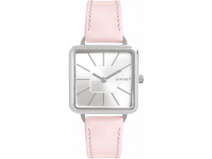 10221 ruzove damske hodinky minet oxford pastel pink