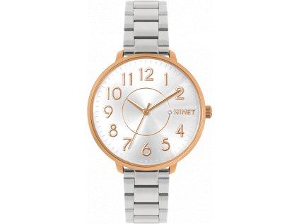 6564 ruzovo stribrne damske hodinky minet prague rose silver