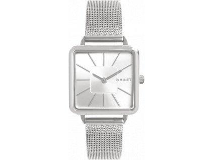 10200 stribrne damske hodinky minet oxford pure silver mesh