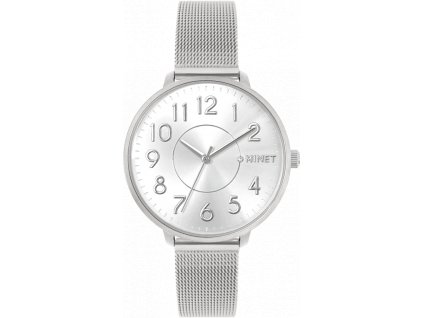 4545 stribrne damske hodinky minet prague pure silver mesh s cisly