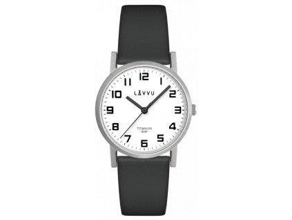 9642 stribrne damske titanove hodinky lavvu mandal