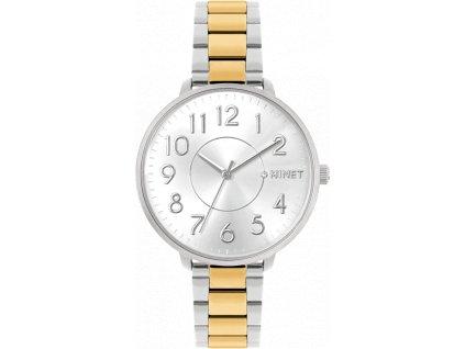 5697 stribrno zlate damske hodinky minet prague silver gold
