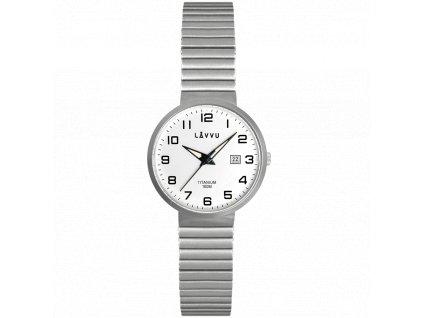 9840 titanove pruzne hodinky s vodotesnosti 100m lavvu lunden small white