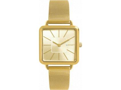 4290 zlate damske hodinky minet oxford all gold mesh