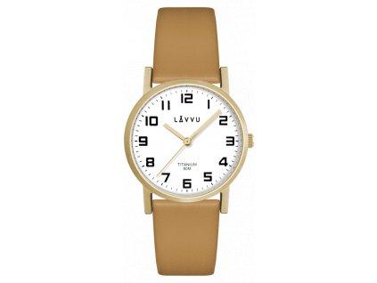 9645 zlate damske titanove hodinky lavvu mandal