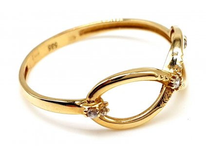 Zlatý infinity prsten ze žlutého zlata (Velikost prstene 55mm)
