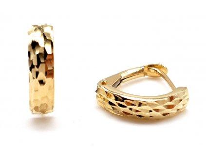 Zlaté náušnice ze žlutého zlata