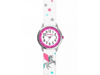 58251 2 bile trpytive divci hodinky s jednorozcem clockodile unicorn