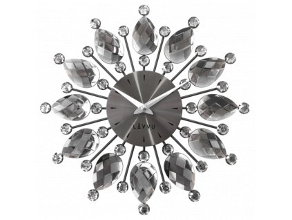 58272 2 cerne antracitove hodiny lavvu crystal flower