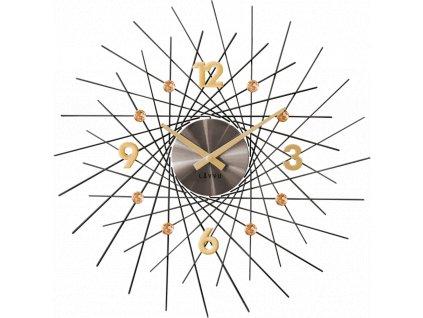 58299 3 cerne antracitove hodiny se zlatymi detaily lavvu crystal lines