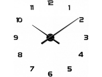 58341 2 cerne nalepovaci hodiny lavvu 3d sticker black numerals