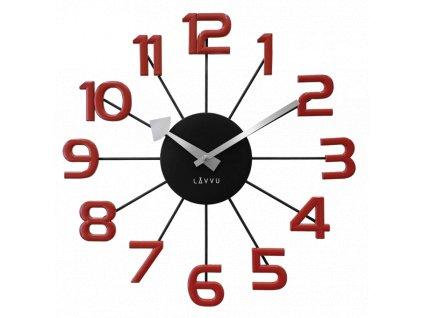 58368 2 cerno cervene moderni hodiny lavvu design numerals