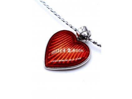 58092 cervene smaltove srdce