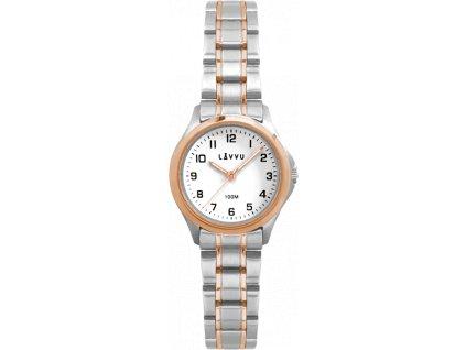 58443 1 damske hodinky lavvu arendal original rose gold bicolor s vodotesnosti 100m