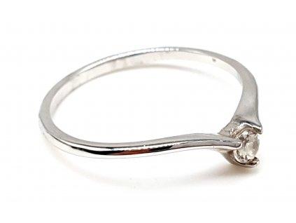 Decentní zásnubní prsten z bílého zlata (Velikost prstene 52mm)