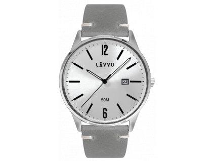58542 1 elegantni panske hodinky lavvu karlstad silver top grain leather