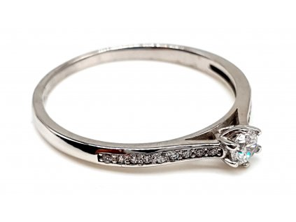57387 elegantni zasnubni prsten z bileho zlata zdobeny zirkony velikost 57mm