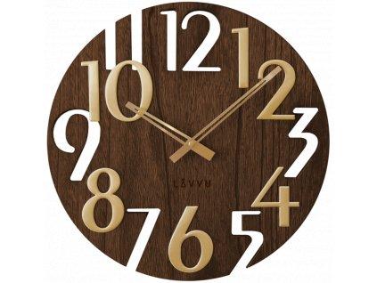 58587 3 hnede drevene hodiny lavvu style brown wood
