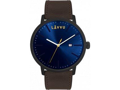 58611 1 hnedo modre panske hodinky lavvu copenhagen dark brown