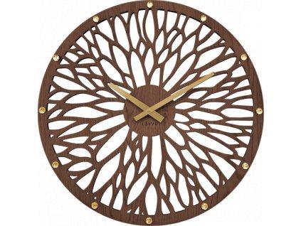 58629 2 impozantni tmave drevene hodiny lavvu wood