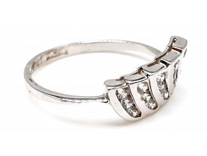 57390 netradicni prsten z bileho zlata velikost 55mm