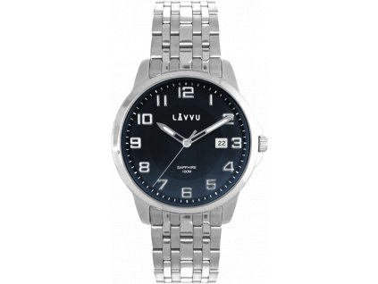 58797 2 panske hodinky se safirovym sklem a sviticimi cislicemi lavvu narvik blue