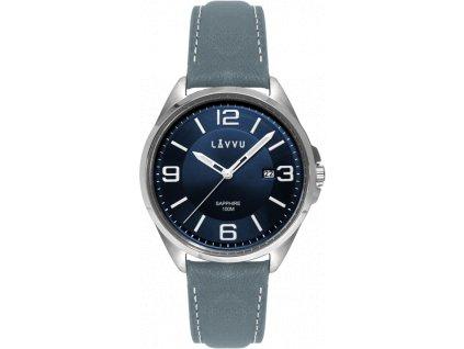 58812 2 panske hodinky se safirovym sklem lavvu herning blue top grain leather