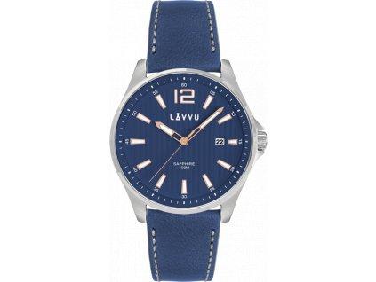 58830 1 panske hodinky se safirovym sklem lavvu nordkapp blue top grain leather