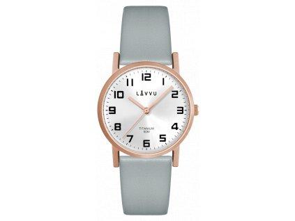 58911 1 rose gold damske titanove hodinky lavvu mandal