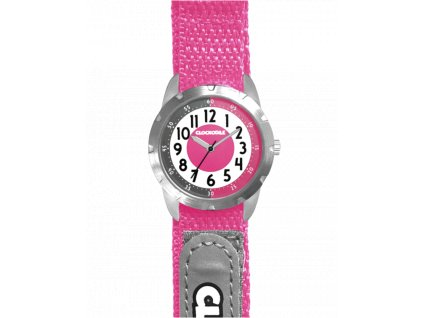 58968 2 ruzove reflexni detske hodinky na suchy zip clockodile reflex