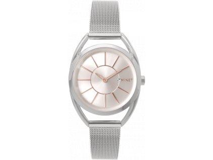 59028 4 stribrne damske hodinky minet icon silver rose mesh