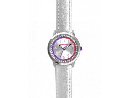 59169 2 stribrne trpytive divci hodinky se kaminky clockodile sparkle