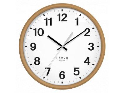59322 1 svetle drevene hodiny s plynulym chodem lavvu essential wood
