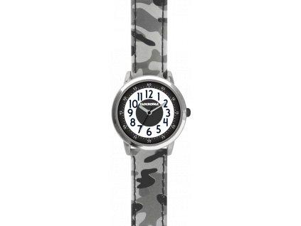 59403 3 svitici sede chlapecke hodinky clockodile army s maskacovym vzorem