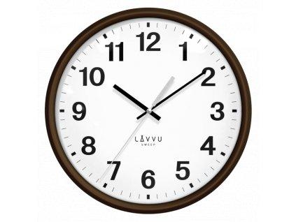 59478 1 tmave drevene hodiny s plynulym chodem lavvu essential wood