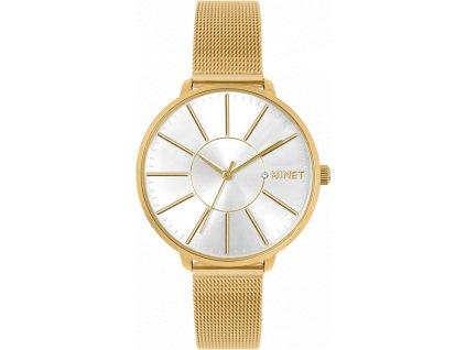 59646 2 zlate damske hodinky minet prague pure gold mesh