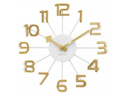 59691 2 zlato bile moderni hodiny lavvu design numerals