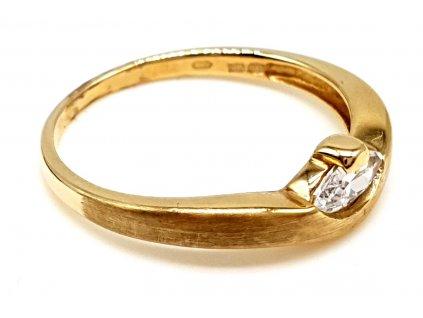 Zlatý prsten s matnou úpravou (Velikost prstene 49mm)