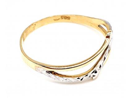 Zlatý prsten v provedení bi-color (Velikost prstene 52mm)