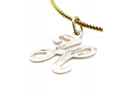 69621 zlaty privesek male pismeno h