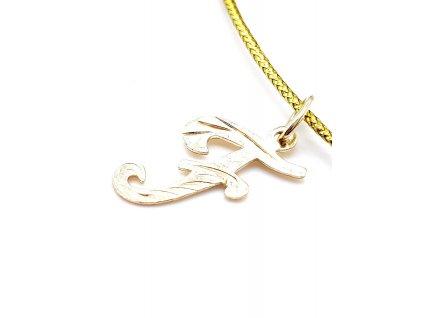 69585 zlaty privesek pismeno f