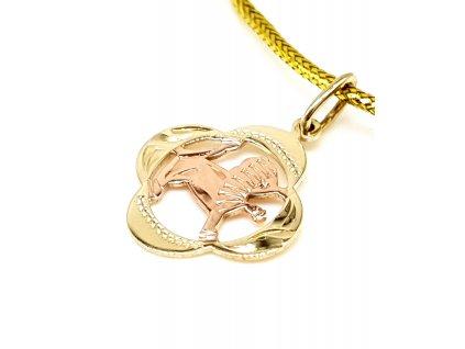57216 zlaty privesek znameni lev