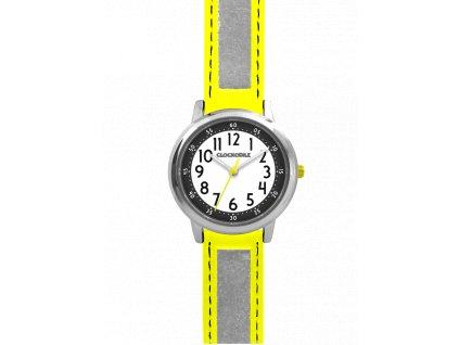 59712 4 zlute reflexni detske hodinky clockodile reflex