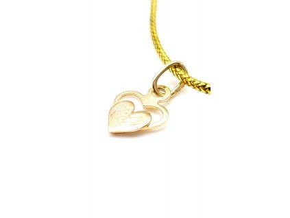 Zlaté srdce z růžového a žlutého zlata