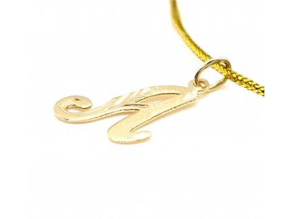 """Zlatý přívěsek - písmeno """"A"""""""