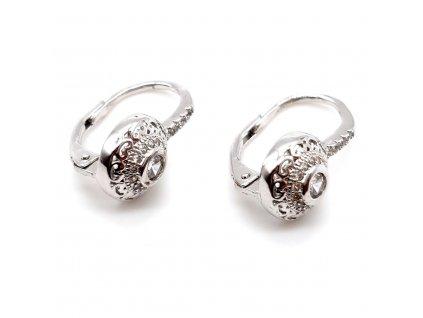 Elegantní stříbrné náušnice poseté zirkony